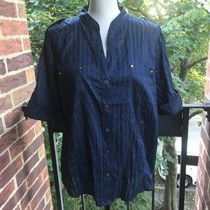 Anne Klein Short Sleeve Shirt XL